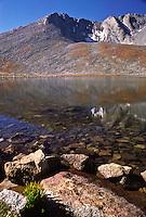 14,262 ft. Mount Evans and Summit Lake. Front Range Mountains, Colorado.
