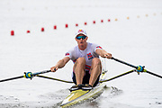 Poznan, POLAND, 21st June 2019, Friday, Morning Heats, NOR M1X, Kjetil  BORCH,  FISA World Rowing Cup II, Malta Lake Course, © Peter SPURRIER/Intersport Images,<br /> <br /> 12:08:59