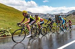 07.07.2017, St. Johann Alpendorf, AUT, Ö-Tour, Österreich Radrundfahrt 2017, 5. Kitzbühel - St. Johann/Alpendorf (212,5 km), im Bild v.l.: Daniel Geismayr (AUT, Team Vorarlberg), Stefan Denifl (AUT, Aqua Blue Sport), Mekseb Debesay (ERI, Team Dimension Data) // f.l.: Daniel Geismayr (AUT Team Vorarlberg) Stefan Denifl (AUT Aqua Blue Sport) Mekseb Debesay (ERI Team Dimension Data) during the 5th stage from Kitzbuehel - St. Johann/Alpendorf (212,5 km) of 2017 Tour of Austria. St. Johann Alpendorf, Austria on 2017/07/07. EXPA Pictures © 2017, PhotoCredit: EXPA/ JFK