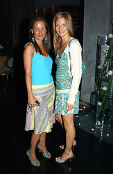 Left to right, MISS TINA FERGUSON and MISS JESSICA SIMON at Tatler Magazine's Summer Party held at the Baglioni Hotel, 60 Hyde Park Gate, London SW7 on 1st July 2004.