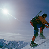 A mountaineer ascends a previously unexplored Chilean range.