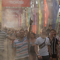 Revellers enjoy Sziget Festival held in Budapest, Hungary on Aug. 7, 2019. ATTILA VOLGYI
