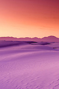 Sand dunes at dusk, White Sands National Monument, New Mexico USA