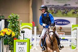 Van Hollebeke Julie, BEL, Mini Hoops<br /> Nationaal Indoor Kampioenschap Pony's LRV <br /> Oud Heverlee 2019<br /> © Hippo Foto - Dirk Caremans<br /> 09/03/2019