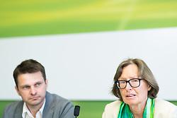 24.05.2017, Grüner Parlamentsklub, Wien, AUT, Grüne, Pressekonferenz mit Präsentation des neuen Chef des grünen Parlamentsklubs. im Bild v.l.n.r. designierter Klubobmann der Grünen Albert Steinhauser und Stv. Klubobfrau der Grünen Gabriela Moser // f.l.t.r. Leader of the parliamentary group of the greens Albert Steinhauser and Assistant.leader of the parliamentary group the greens Gabriela Moser during presentation of the new leader of the parliamentary group the greens in Vienna, Austria on 2017/05/24. EXPA Pictures © 2017, PhotoCredit: EXPA/ Michael Gruber