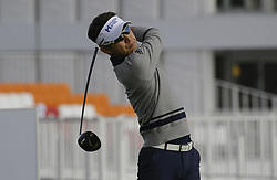 October 19, 2017 - Seogwipo, Jeju Island, South Korea - Jinho Choi of South Korea action on the 10th tee during an PGA TOUR The CJ CUP NINE BRIDGE at Nine Bridge CC in Jeju, South Korea. (Credit Image: © Ryu Seung Il via ZUMA Wire)