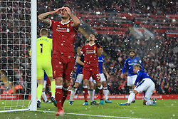 10th December 2017 - Premier League - Liverpool v Everton - Dejan Lovren of Liverpool looks dejected - Photo: Simon Stacpoole / Offside.
