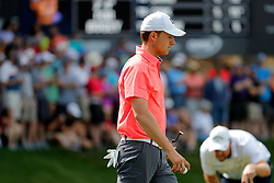 June 22, 2018 - Cromwell, CT, U.S. - CROMWELL, CT - JUNE 22: Jordan Spieth of the United States walks off the 15th green during the Second Round of the Travelers Championship on June 22, 2018, at TPC River Highlands in Cromwell, Connecticut. (Photo by Fred Kfoury III/Icon Sportswire) (Credit Image: © Fred Kfoury Iii/Icon SMI via ZUMA Press)