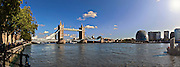 Tower Bridge and the river thames, London