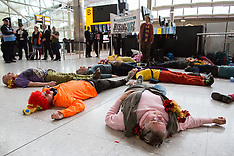 2017-02-18 Rising Up Heathrow flashmob and die-in