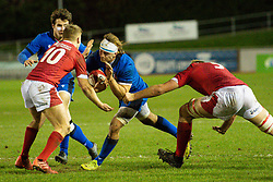 Lorenzo Cannone of Italy in action <br /> <br /> Photographer Craig Thomas/Replay Images<br /> <br /> U20 Six Nations - Wales v Italy  - Friday 31st January 2020 - Stadiwm Zip World (Parc Eirias) - Colwyn Bay<br /> <br /> World Copyright © Replay Images . All rights reserved. info@replayimages.co.uk - http://replayimages.co.uk