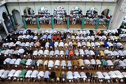 June 9, 2017 - Allahabad, Uttar Pradesh, India - Indian Muslims offer prayer/Namaz on the occasion of 2nd Friday called zuma at Hazarat Washi Ullah Mosque in Allahabad. (Credit Image: © Prabhat Kumar Verma via ZUMA Wire)