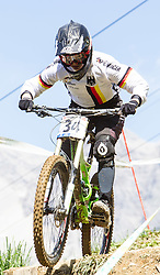 02.09.2012, Bikepark, Leogang, AUT, UCI, Mountainbike und Trial Weltmeisterschaften, WOMEN Elite, Downhill, im Bild Kim Schwemmer (GER) // during UCI Mountainbike and Trial World Championships, MEN WOMEN, Downhill at the Bikepark, Leogang, Austria on 2012/09/02. EXPA Pictures © 2012, PhotoCredit: EXPA/ Juergen Feichter