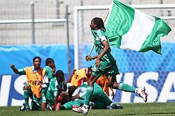 25.07.2010,  Augsburg, GER, FIFA U20 Womens Worldcup, , Viertelfinale, USA vs Nigeria,  im Bild Nigeria feiert Ihren Sieg , EXPA Pictures © 2010, PhotoCredit: EXPA/ nph/ . Straubmeier+++++ ATTENTION - OUT OF GER +++++ / SPORTIDA PHOTO AGENCY