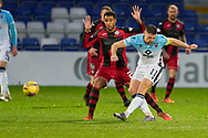 11 Iain Vigurs of ross County fires during the Scottish Premiership match between Ross County FC and St Mirren FC at the Global Energy Stadium, Dingwall, Scotland on 26 December 2020