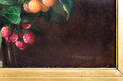 George Henry Hall Still life with rasberries