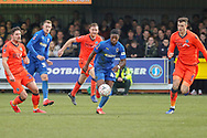 AFC Wimbledon attacker Michael Folivi (41) dribbling during the The FA Cup 5th round match between AFC Wimbledon and Millwall at the Cherry Red Records Stadium, Kingston, England on 16 February 2019.