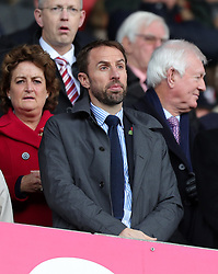 England manager Gareth Southgate in the stands during the Premier League match at the bet365 Stadium, Stoke-on-Trent.