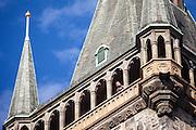 Aussichts Plattform auf der Spitze des Altstädter Rathaus in Prag.