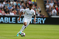 Kyle Naughton of Swansea city in action. Premier league match, Swansea city v Chelsea at the Liberty Stadium in Swansea, South Wales on Sunday 11th Sept 2016.<br /> pic by  Andrew Orchard, Andrew Orchard sports photography.