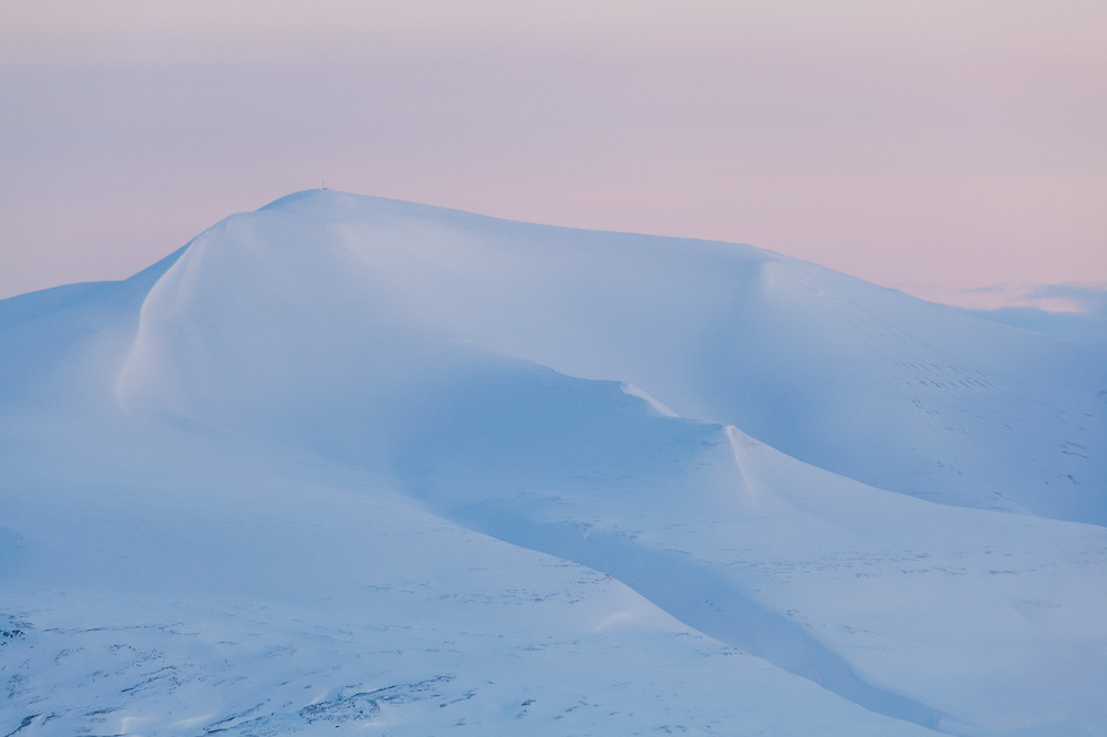 Skolten, Svalbard at dusk.
