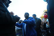 BROOKLYN, NEW YORK: NOVEMBER 6, 2020-  Actor Tracey Morgan and others attend the official ribbon cutting ceremony opening the new New York City Housing Authority (NYCHA) Marcy Houses Community Center on November 6, 2020 in the Bedford Stuyvesant section of Brooklyn, New York City.   Photo by Terrence Jennings/terrencejennings.com