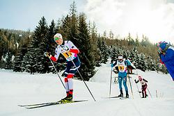 February 3, 2018 - Goms, SWITZERLAND - 180203 HÅ'vard Moseby of Norway competes in the men's 4x5 km relay during the FIS Nordic Junior World Ski Championships on February 3, 2018 in Obergoms..Photo: Vegard Wivestad GrÂ¿tt / BILDBYRN / kod VG / 170099 (Credit Image: © Vegard Wivestad Gr¯Tt/Bildbyran via ZUMA Press)