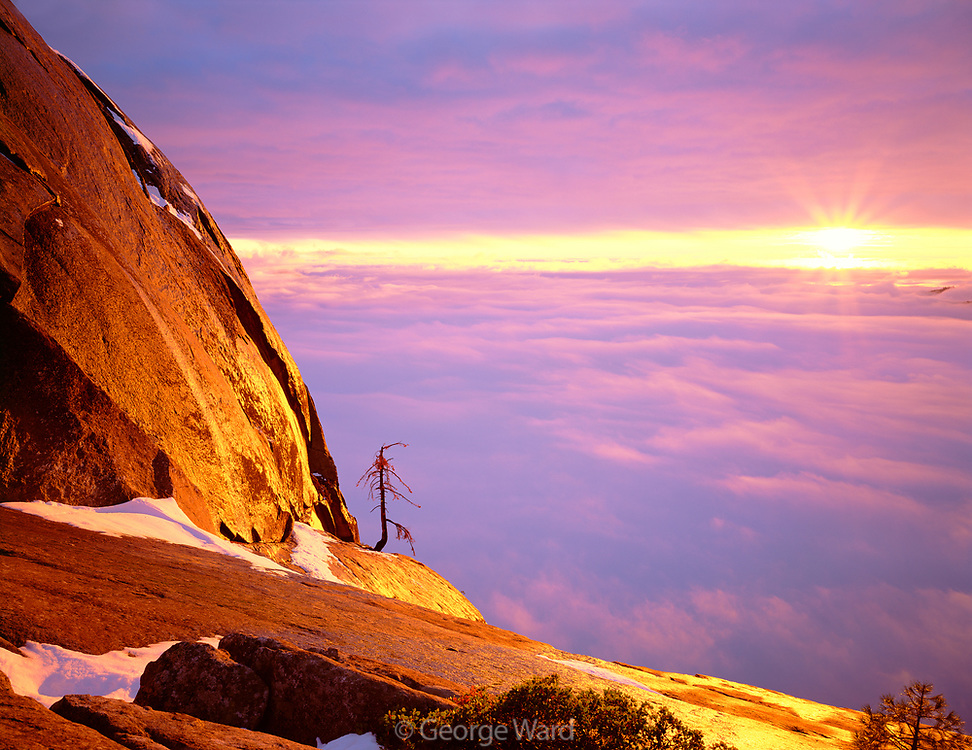 Clearing Storm at Sunsetfrom Moro Rock,Sequoia National Park, California