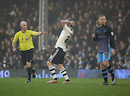 Fuham midfielder Jamie O'Hara missing a chance during the Sky Bet Championship match between Fulham and Sheffield Wednesday at Craven Cottage, London, England on 2 January 2016. Photo by Matthew Redman.