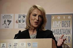 November 9, 2018 - Athens, Greece - Regional Governor of Attica, Rena Dourou seen speaking at the AIMS Best Runner Award Gala. (Credit Image: © Giorgos Zachos/SOPA Images via ZUMA Wire)