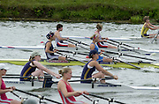 Nottingham, National Rowing Championship.<br /> 2001 Championships<br /> Photo Peter Spurrier.<br /> <br /> Women's Doubles from the start looking across the lanes.<br /> <br /> W2X     [Mandatory Credit;Peter SPURRIER;Intersport Images] 20010723 National Rowing Championships, Nottingham. UK