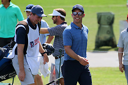 September 20, 2018 - Atlanta, GA, U.S. - ATLANTA, GA - SEPTEMBER 20: Paul Casey has a laugh with his caddie as they approach the 15th green during the first round of the PGA Tour Championship on September 20, 2018, at East Lake Golf Club in Atlanta, GA. (Photo by Michael Wade/Icon Sportswire) (Credit Image: © Michael Wade/Icon SMI via ZUMA Press)