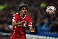 Fabio Da Silva of Cardiff city .Skybet football league championship match, Cardiff city v Ipswich Town at the Cardiff city stadium in Cardiff, South Wales on Tuesday 21st October 2014<br /> pic by Andrew Orchard, Andrew Orchard sports photography.