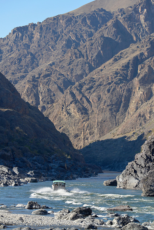 Jet boat tour on the Snake River in Hells Canyon on the Idaho/Oregon border.