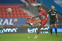 Rugby League - 2020 Coral Challenge Cup - Salford Red Devils vs Warrington Wolves - TW Stadium, St Helen's<br /> <br /> Salford Red Devils's Krisnan Inu converts<br /> <br /> COLORSPORT/TERRY DONNELLY