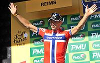 CYCLING - TOUR DE FRANCE 2010 - REIMS (FRA) - 07/07/2010 - PHOTO : VINCENT CURUTCHET / DPPI - <br /> STAGE 4 - CAMBRAI > REIMS - THOR HUSHOVD (NOR) / CERVELO TEST TEAM