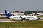 9H-GAW Blue Panorama Airlines, 737-800. Photographed at Malpensa airport, Milan, Italy