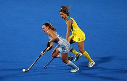 Argentina's Florencia Habif and Australia's Brooke Peris in action