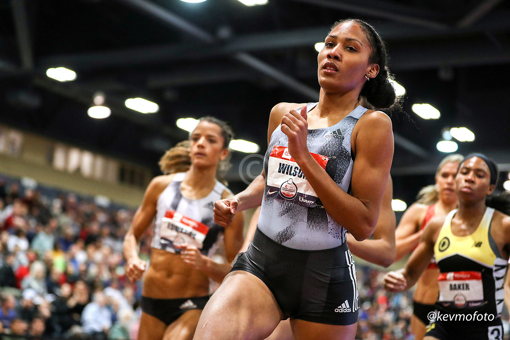 2020 USATF Indoor Championship<br /> Albuquerque, NM 2020-02-15<br /> photo credit: © 2020 Kevin Morris<br /> women 800m final, adidas