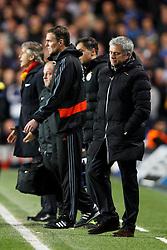 Chelsea Manager Jose Mourinho (POR) looks nonplussed - Photo mandatory by-line: Rogan Thomson/JMP - 18/03/2014 - SPORT - FOOTBALL - Stamford Bridge, London - Chelsea v Galatasaray - UEFA Champions League Round of 16 Second leg.
