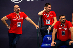 Time out Croatia with Ivica Tucak in action against Netherlandsduring the Olympic qualifying tournament. The Dutch water polo players are on the hunt for a starting ticket for the Olympic Games on February 15, 2021 in Rotterdam