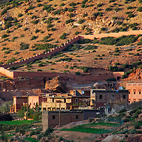 Africa, Morocco, Tansghart. Village of Tansghart in the Atlas Mountains.