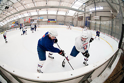 and Rok Lebar during practice session of Slovenian Ice Hockey National Team for IIHF World Championship in Sweden and Finland, on March 28, 2013, in Arena Zlato Polje, Kranj, Slovenia. (Photo by Vid Ponikvar / Sportida.com)