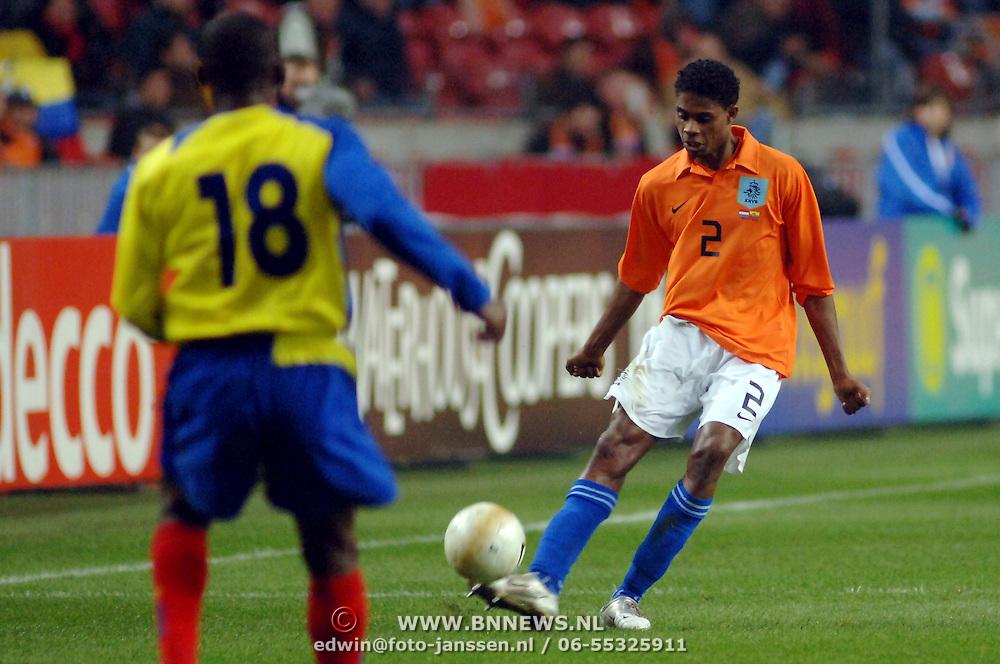 NLD/Amsterdam/20060301 - Voetbal, oefenwedstrijd Nederland - Ecuador, Kew Jaliens