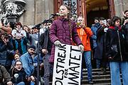 Greta Thunberg in Lausanna am 17. Januar 2020. Photo Siggi Bucher