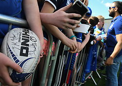 May 13, 2018 - Dublin, Ireland - Leinster Rugby fans await for players to get their autographs and selfies during the homecoming parade at Energia Park, Donnybrook, following their victory in the European Champions Cup Final in Bilbao, Spain..On Sunday, May 13, 2018, in Donnybrook, Dublin, Ireland. (Credit Image: © Artur Widak/NurPhoto via ZUMA Press)