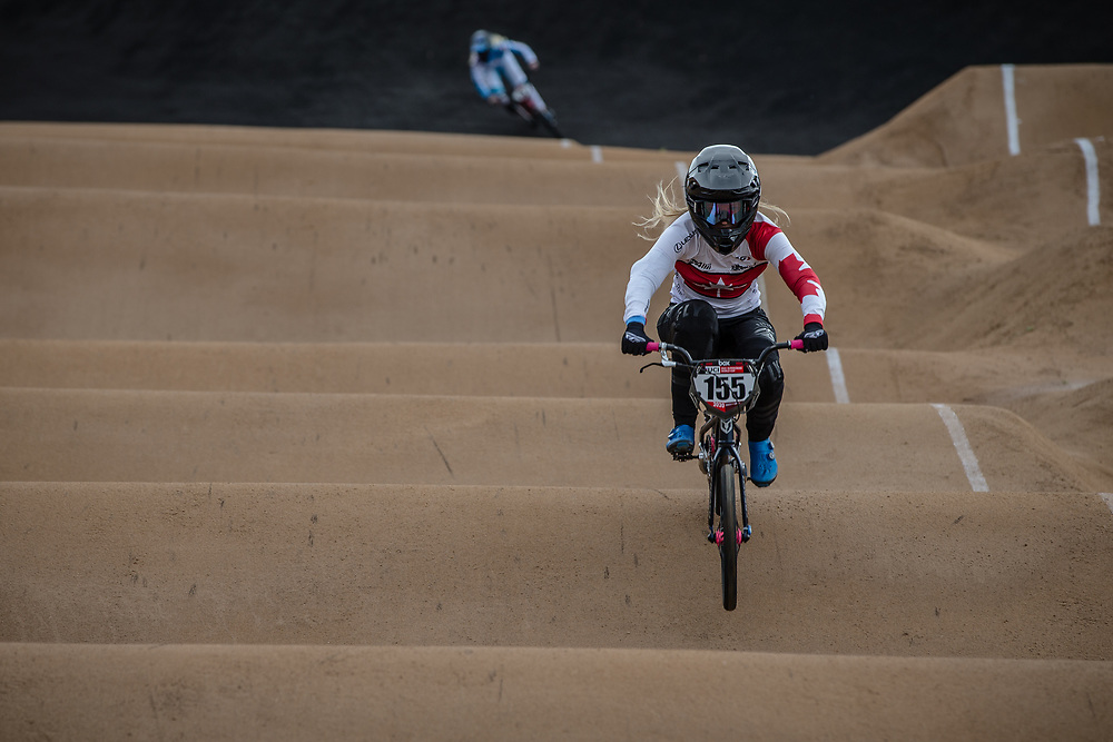#155 (MECHIELSEN Drew) CAN at Round 3 of the 2020 UCI BMX Supercross World Cup in Bathurst, Australia.