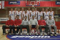 Team photo during practice session of KK Slovan before new season 2005/06, on October 7, 2005 in Kodeljevo, Ljubljana Slovenia. Photo by Vid Ponikvar / Sportida