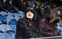 Burnley fans anxiously watch the second half action <br /> <br /> Photographer Rich Linley/CameraSport<br /> <br /> The Premier League - Burnley v Brighton and Hove Albion - Saturday 8th December 2018 - Turf Moor - Burnley<br /> <br /> World Copyright © 2018 CameraSport. All rights reserved. 43 Linden Ave. Countesthorpe. Leicester. England. LE8 5PG - Tel: +44 (0) 116 277 4147 - admin@camerasport.com - www.camerasport.com