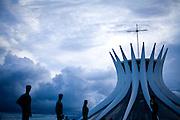 Brasilia_DF, Brasil...Catedral Metropolitana Nossa Senhora Aparecida ou Catedral de Brasilia, localizada na Esplanada dos Ministerios. ..The Metropolitan Cathedral Nossa Senhora Aparecida  or Brasilia Cathedral, in the Esplanade of Ministries...Foto: JOAO MARCOS ROSA / NITRO